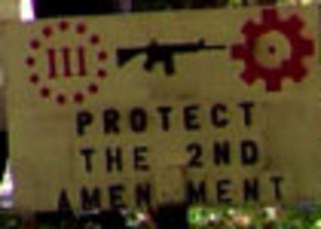 A New York man said he was sick of his 'Protect the 2nd Amendment' sign disappearing from his yard.