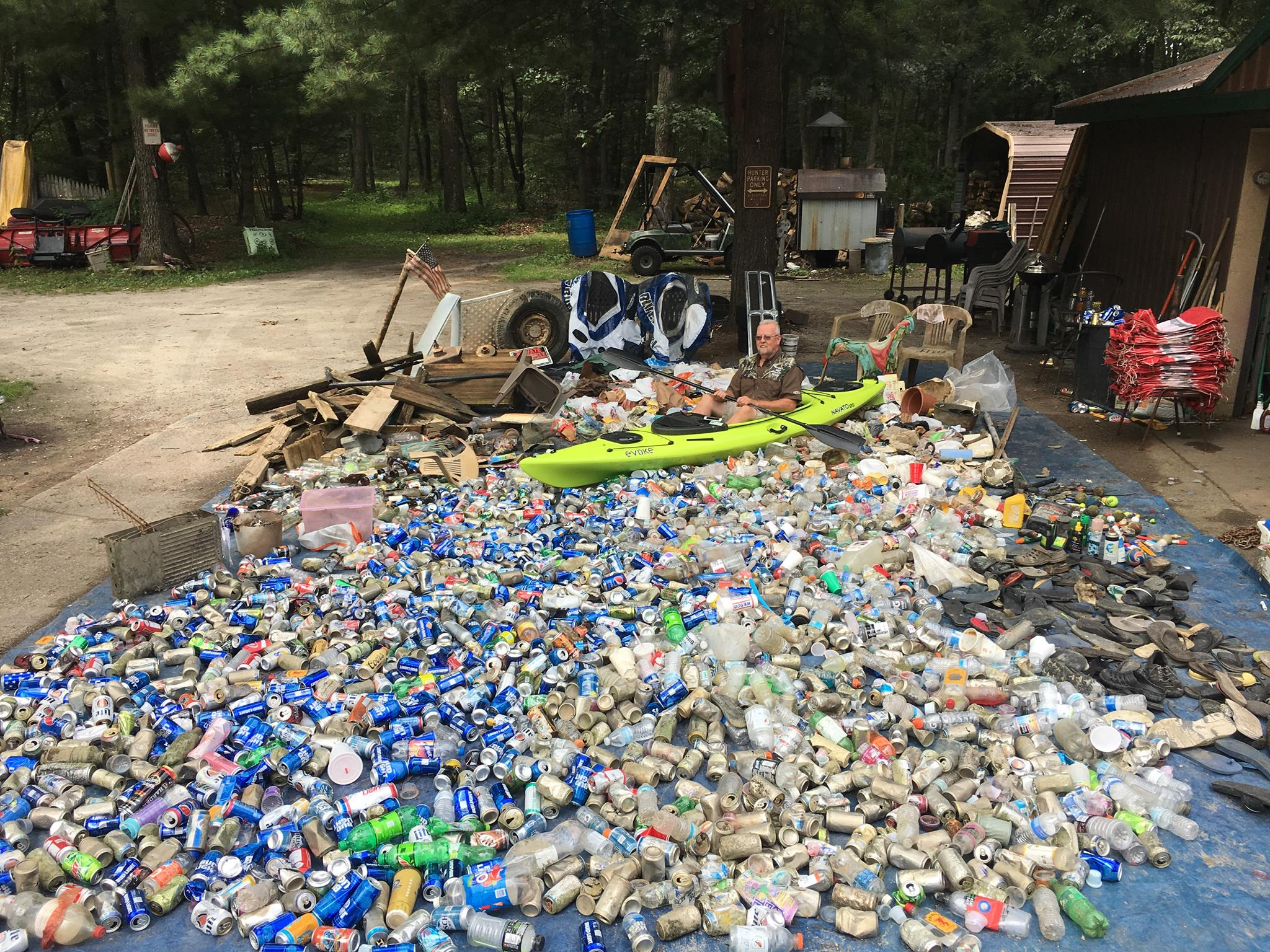 An annual cleanup effort on the Muskegon River brought in a large cache of garbage that other people left behind.Photo Courtesy: Muskegon River Clean-up Co. LLC