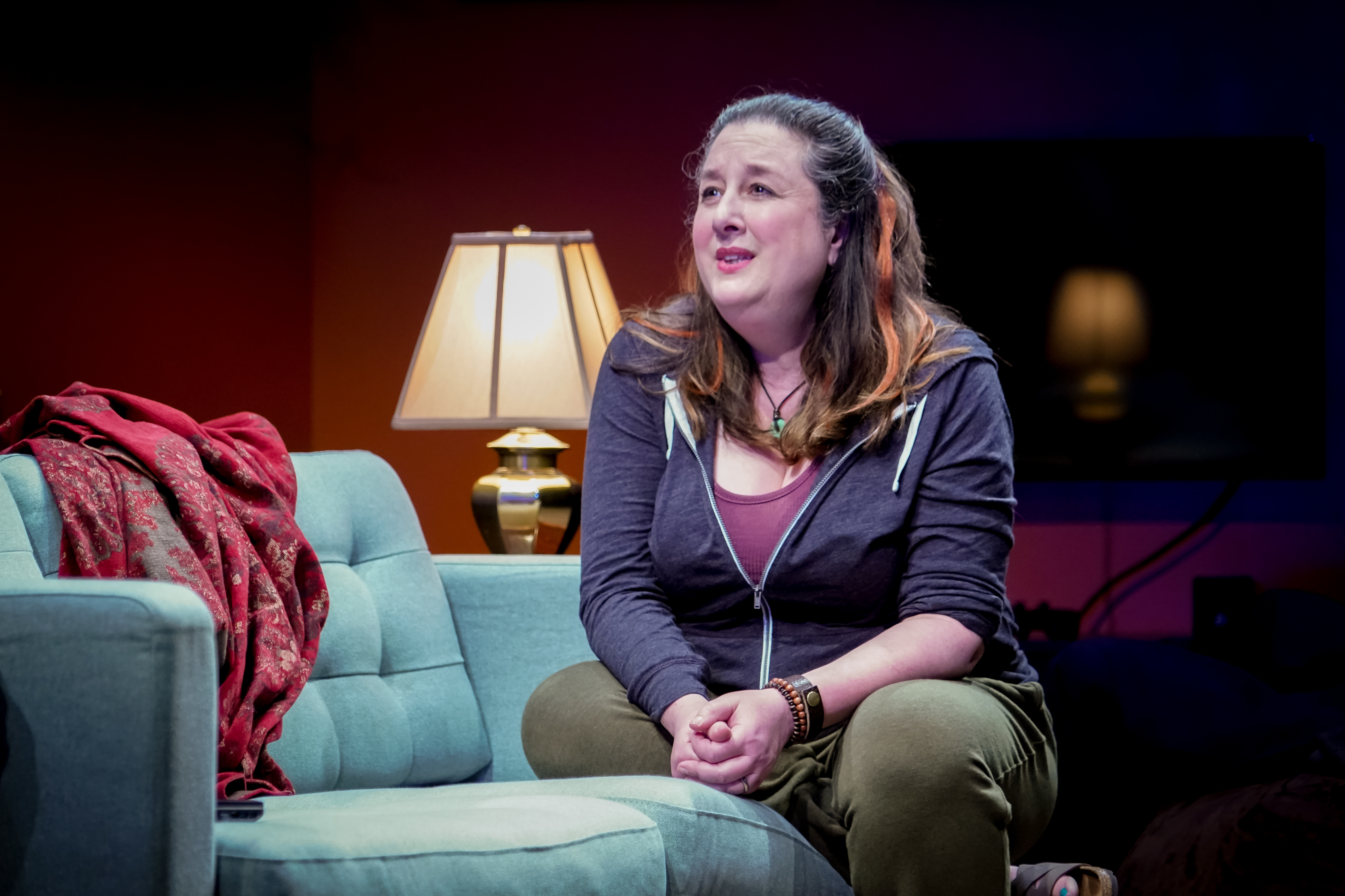 Seattle Rep production of Tiny Beautiful Things. Photo by Alabastro Photography.