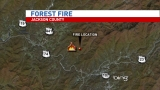 Jackson County forest fire