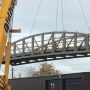 New pedestrian bridge goes up across Amazon Creek in west Eugene