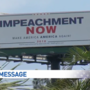 Billboard displays a bold message for President Trump in West Palm Beach