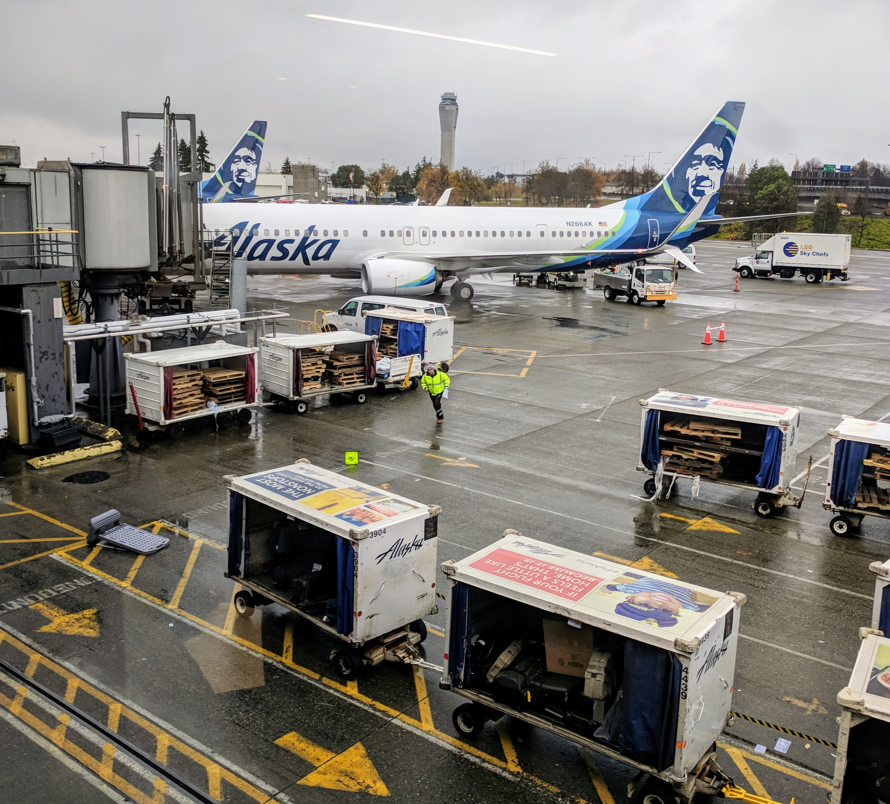According to FlightAware, there have been over 360 flights delayed in or out of Sea-Tac Airport with delays stretching into Friday afternoon reaching over 2.5 hours. (Photo courtesy Scott Carty)<p></p>