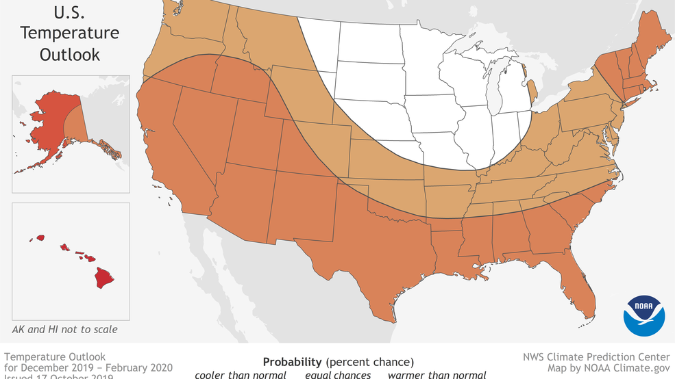NOAA releases Winter Outlook, calls for warmer-than-average conditions