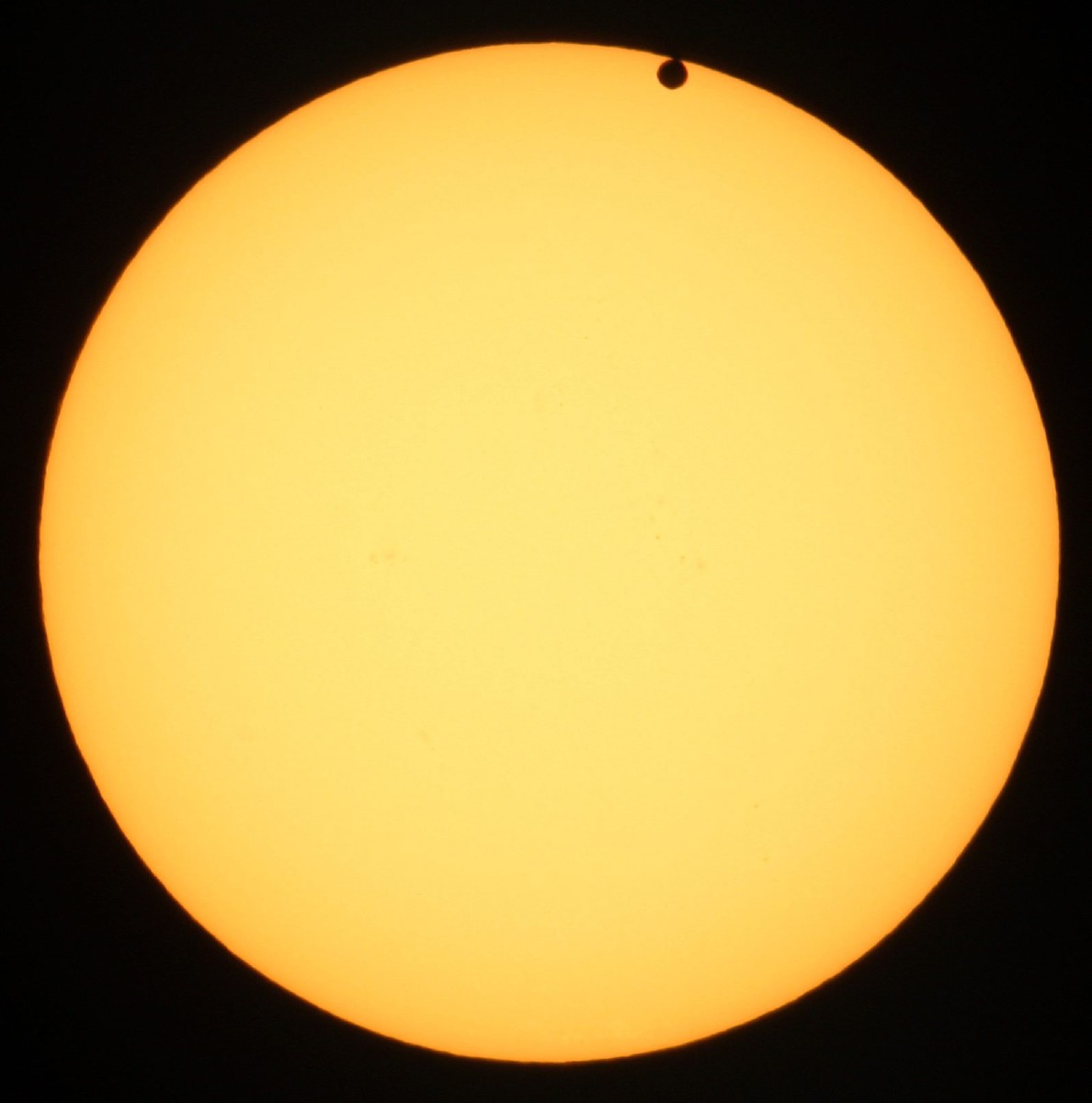 Venus moves in front of the sun as seen from the University of Western Ontario in London, Ontario on Tuesday, June 5, 2012. The rare event occurs when the planet Venus moves in front of the sun. The next time this will occur is in 105 years in 2117. (AP Photo/The Canadian Press, Dave Chidley)
