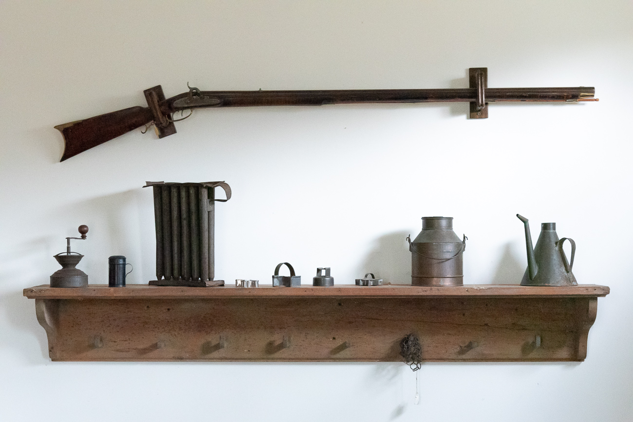 The best place to put a rifle is on the kitchen wall, obviously.{ }/ Image: Phil Armstrong, Cincinnati Refined // Published: 12.5.19