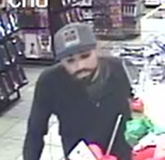 Suspect sought after robbing a retail store near Tropicana, Valley View. (Tiffany Knox, LVMPD Robbery Section)