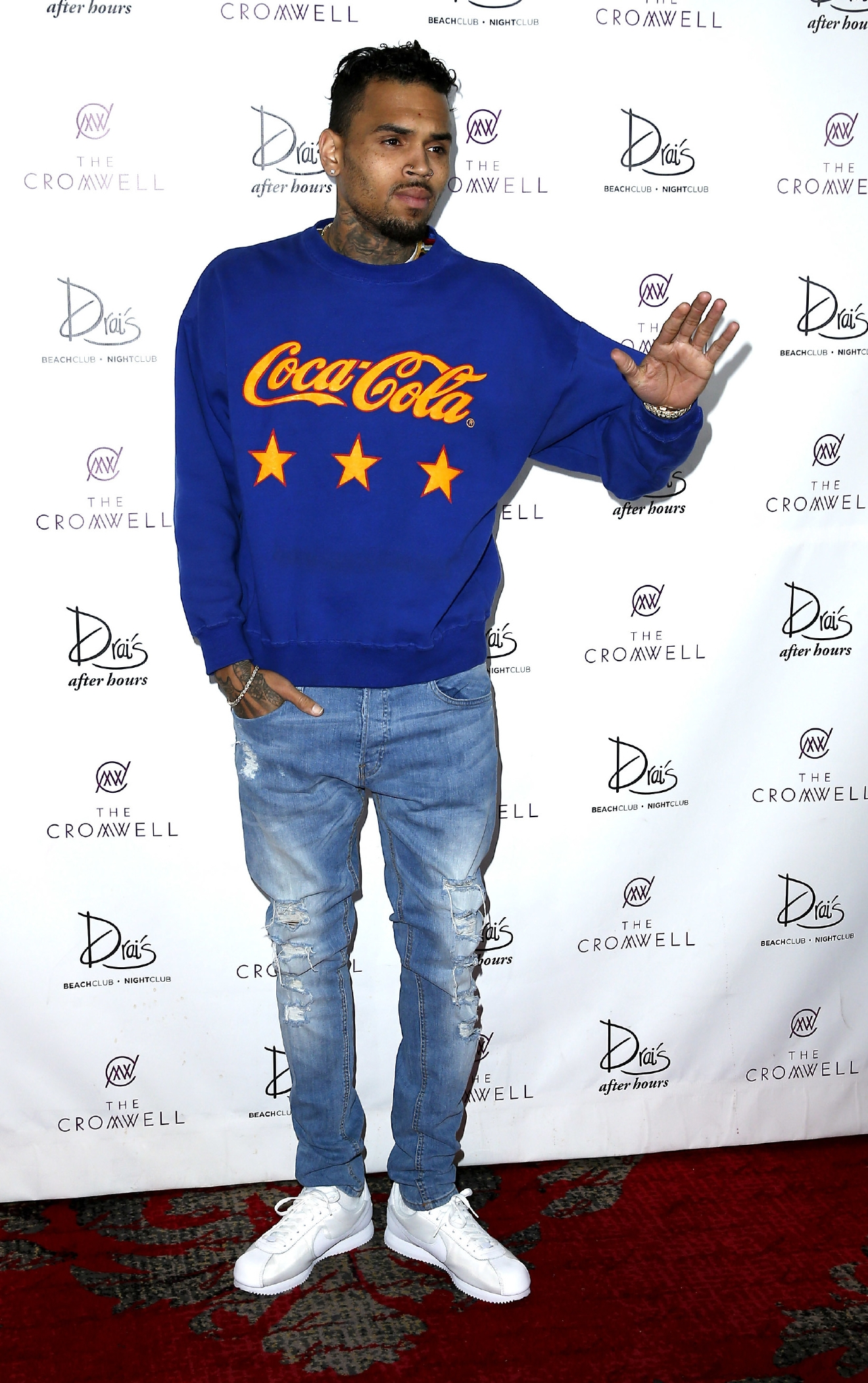 Chris Brown celebrates his birthday at Drais nightclub. ( Judy Eddy/WENN.com)