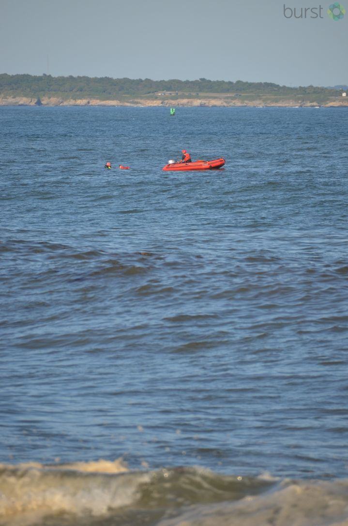 Firefighters pulled two teenage boys from rough water at Narragansett Town Beach on Wednesday, Aug. 30, 2017. (Photo courtesy of David Wrenn)