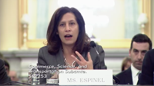 President and CEO of BSA The Software Alliance  Victoria Espinel / Photo: Senate Committee on Commerce, Science, & Transportation's Subcommittee on Communications, Technology, Innovation, and the Internet