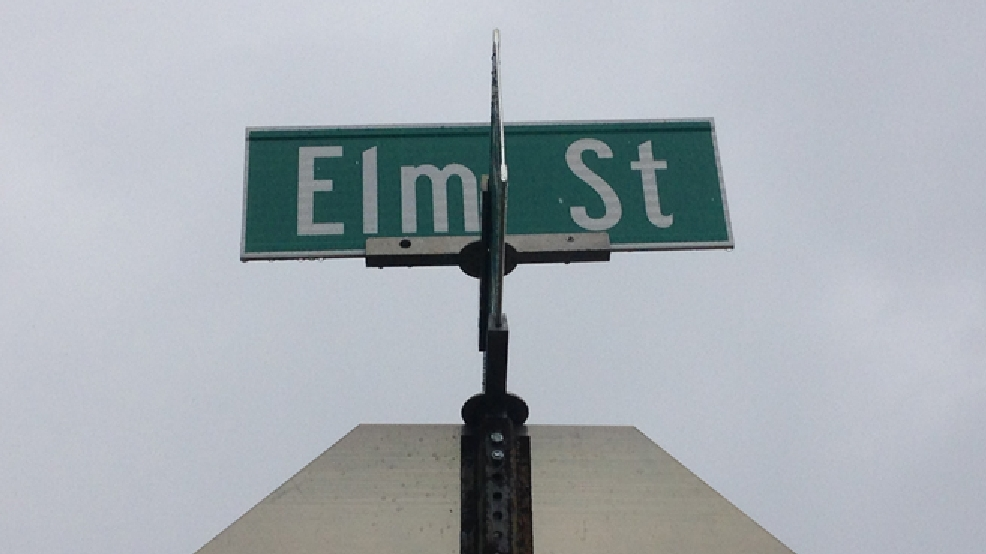 A sign for Elm St. in Waupaca is seen, May 27, 2014. (WLUK/Gabrielle Mays)