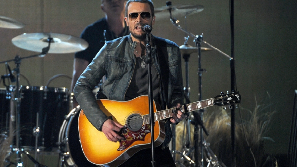 Eric Church performs on stage at the 49th annual Academy of Country Music Awards at the MGM Grand Garden Arena on Sunday, April 6, 2014, in Las Vegas. (Photo by Chris Pizzello/Invision/AP)