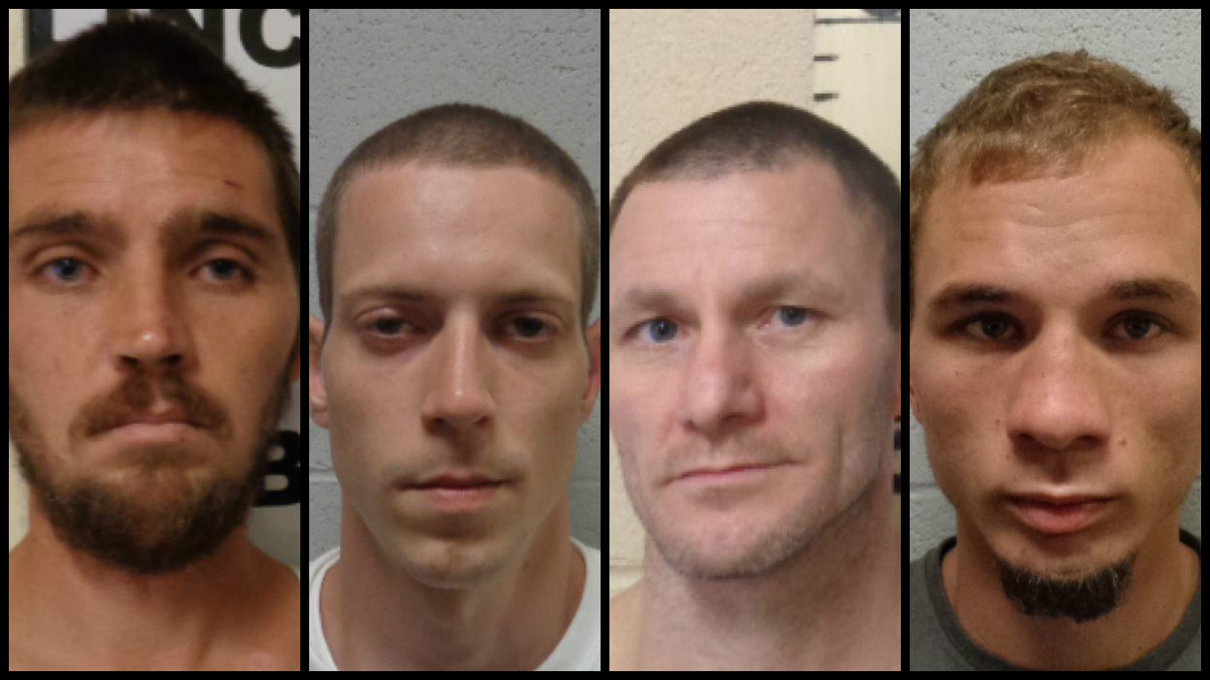 Four men escaped from the Lincoln County Jail early Monday. (Lincoln County Sheriff's Department)