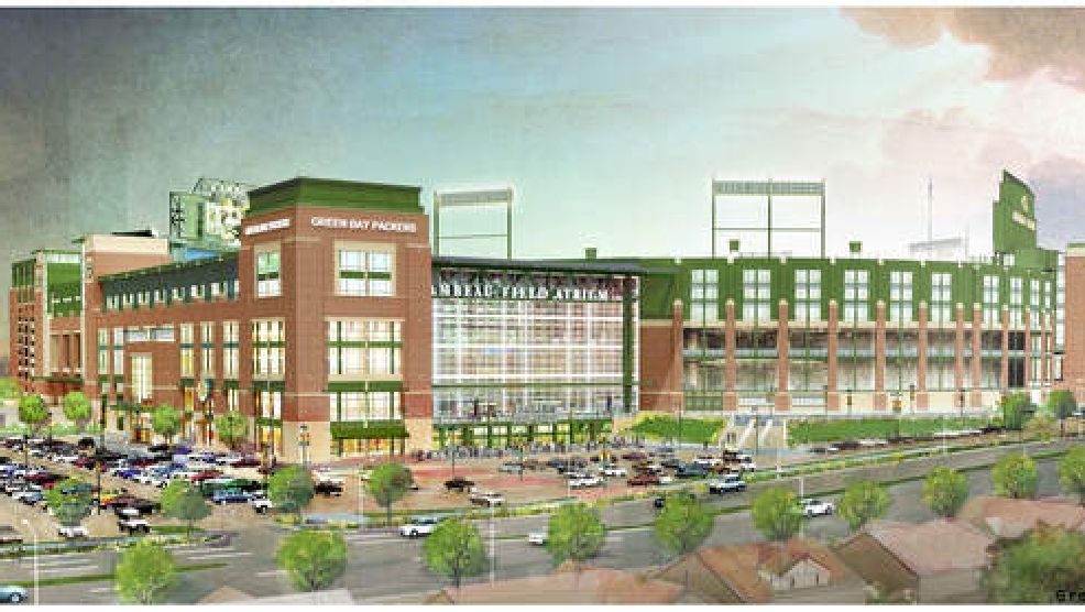 A rendering of the planned changes to the Lambeau Field Atrium.