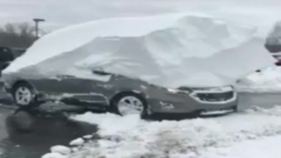 Watch: Wisconsin car dealership frees cars buried under feet of snow