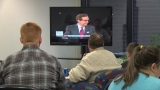 Many students still undecided after viewing Presidential Debate at LC Watch Party