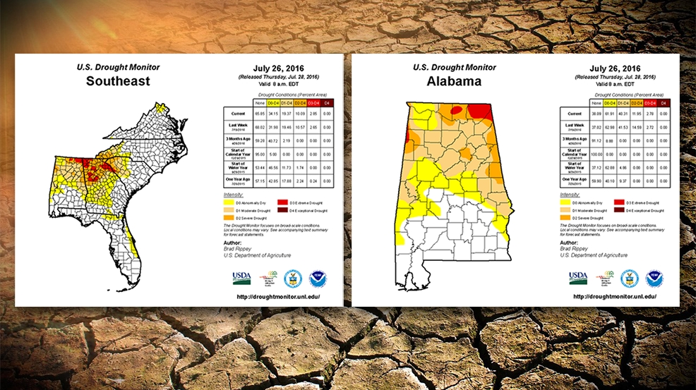 Extreme drought conditions continue in portions of Alabama per US
