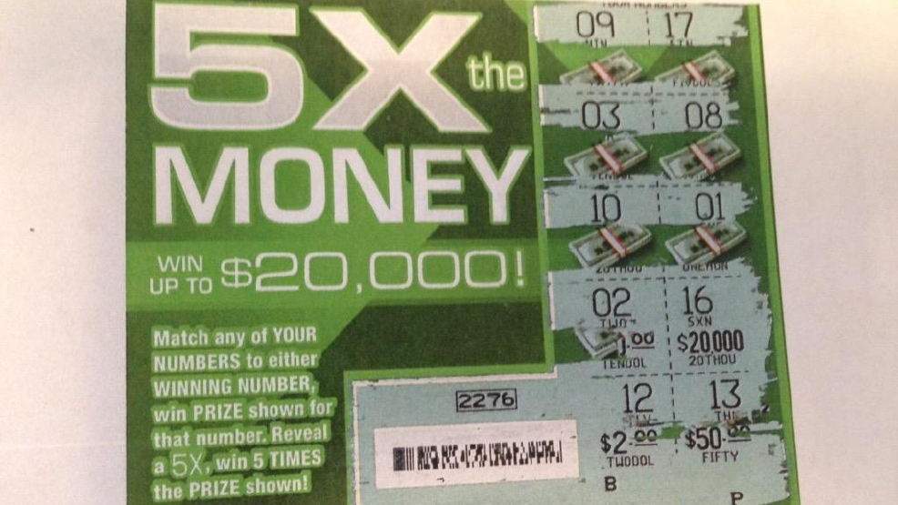 The winning lottery ticket a D.C. woman bought worth $20,000 that the Virginia Lottery won't honor, Monday, Sept. 7, 2015. (WJLA/Chris Papst)