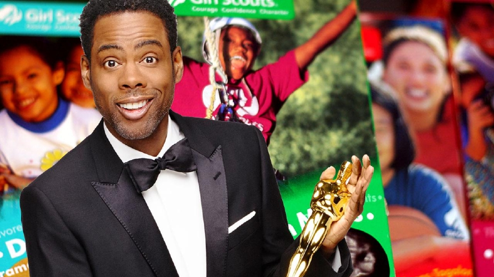 chris rock gets oscars audience to buy daughters girl
