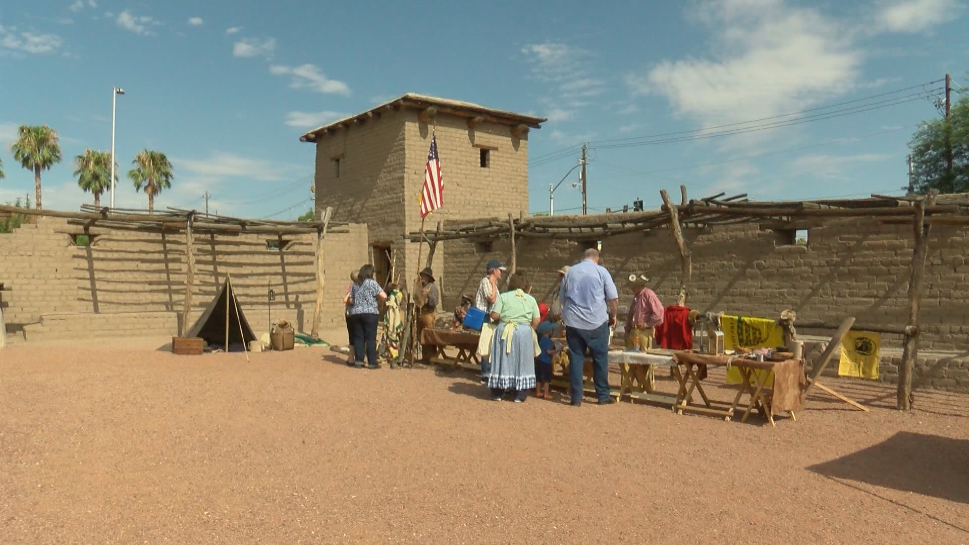 People take part in the Pioneer Day celebration Saturday, July 22, 2017, at The Old Las Vegas Mormon Fort State Historic Park in downtown Las Vegas. (Chad Graves/KSNV)