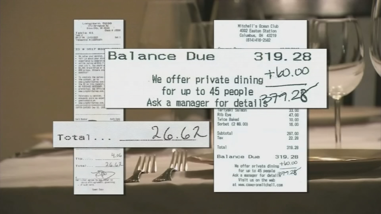 One employee ate at Longhorn Steakhouse while five other prosecutors ate at Mitchell's Ocean Club for hundreds of dollars. (WSYX/WTTE)