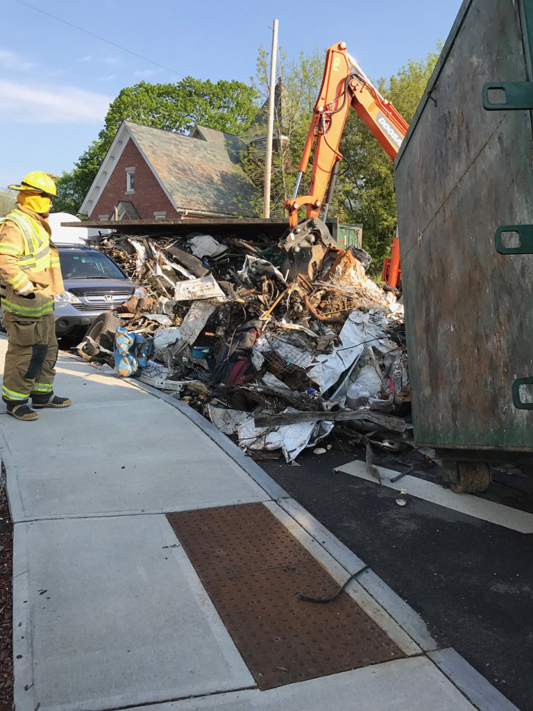 Truck hauling garbage overturns in Fort Ann (Photo, Washington County Sheriff's Office (Twitter) )