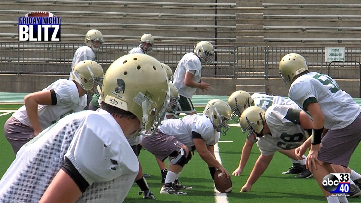 Mountain Brook High football practice.