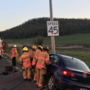 Crews Extricate Female Driver on Foothill Road
