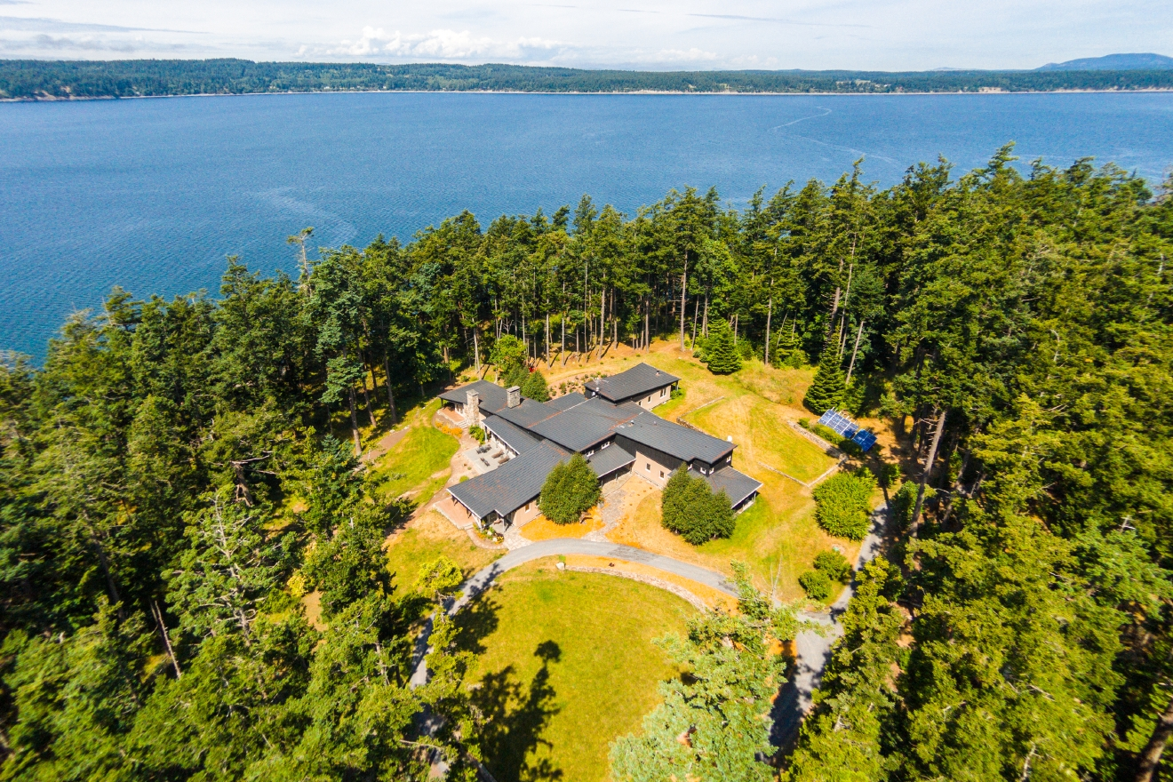 Trump Island has been on the market for four and a half years, since June 2014, and is still listed at $8,750,000. A 7,029 square foot home sits on this island in the San Juans, 29.4 acres of the lushest greenery, with 6 bedrooms and 4.5 bathrooms. (Image courtesy of Windermere)