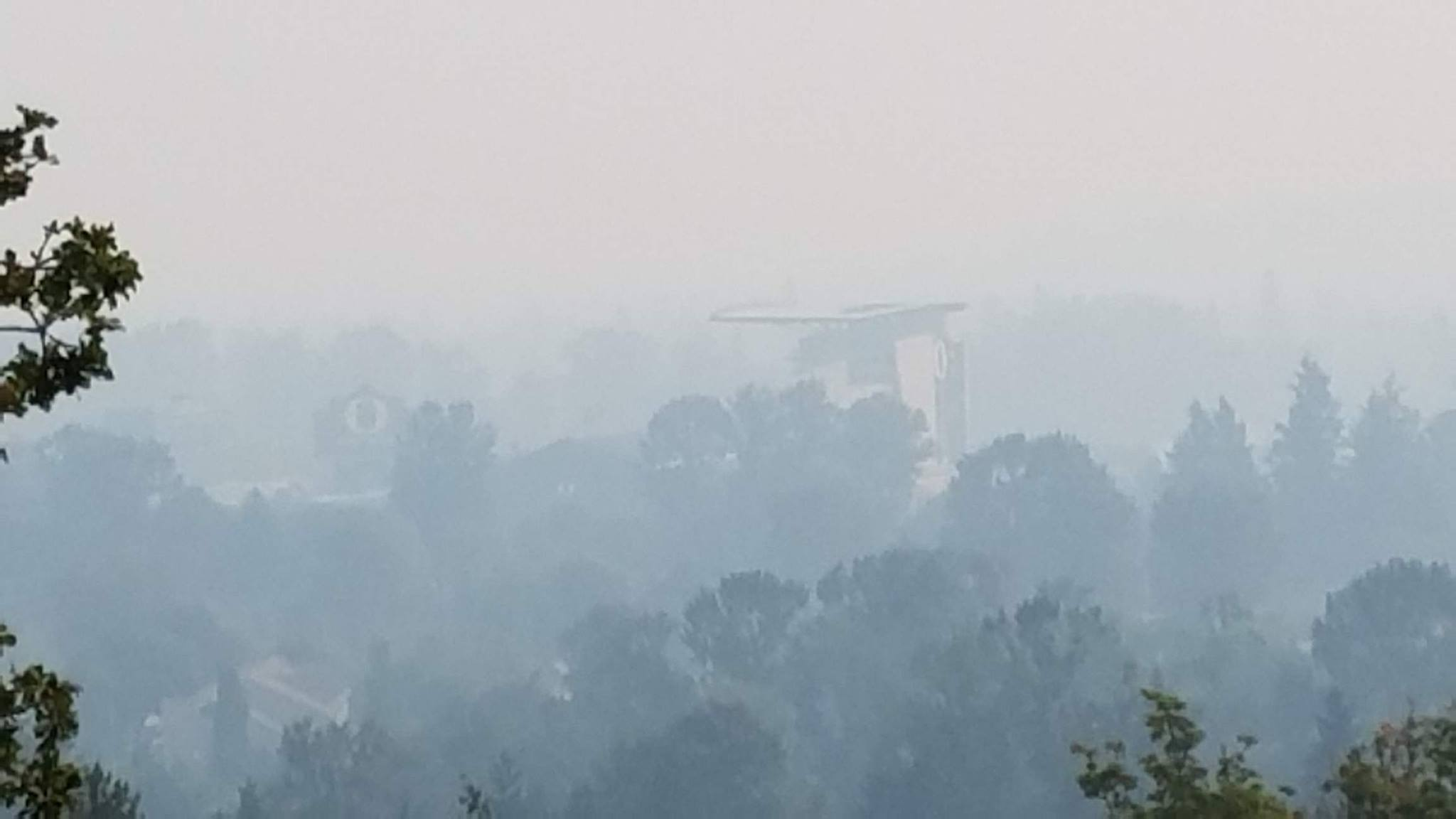 Smoke in Eugene on Monday, August 28, 2017. (SBG)