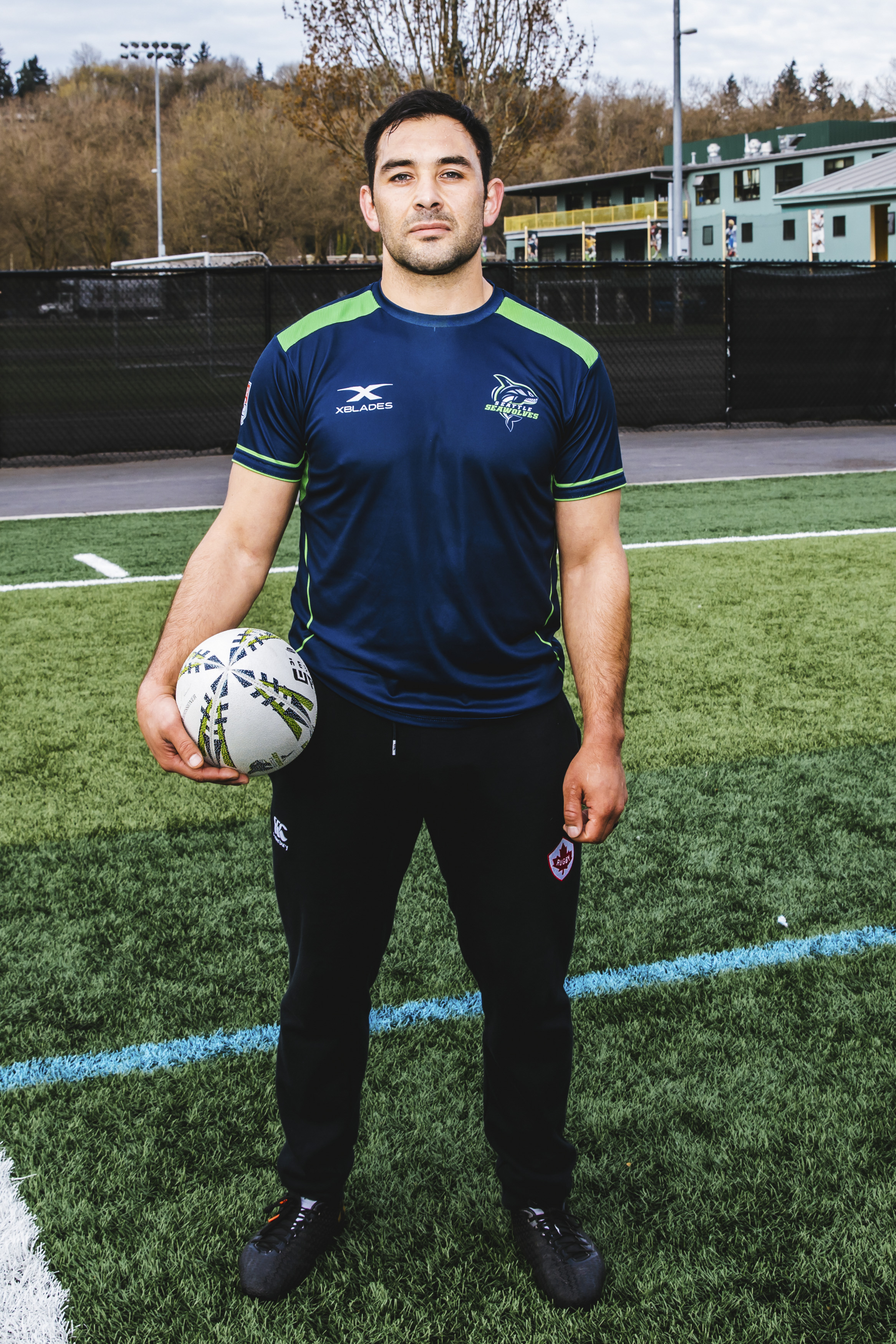Phil, 33, plays Scrum Half for the Seattle Seawolves! He is a friend from across the northern border, originally from Victoria, B.C. and his favorite snack is High Chews. Good choice, Phil. Good choice. (Image: Sunita Martini).