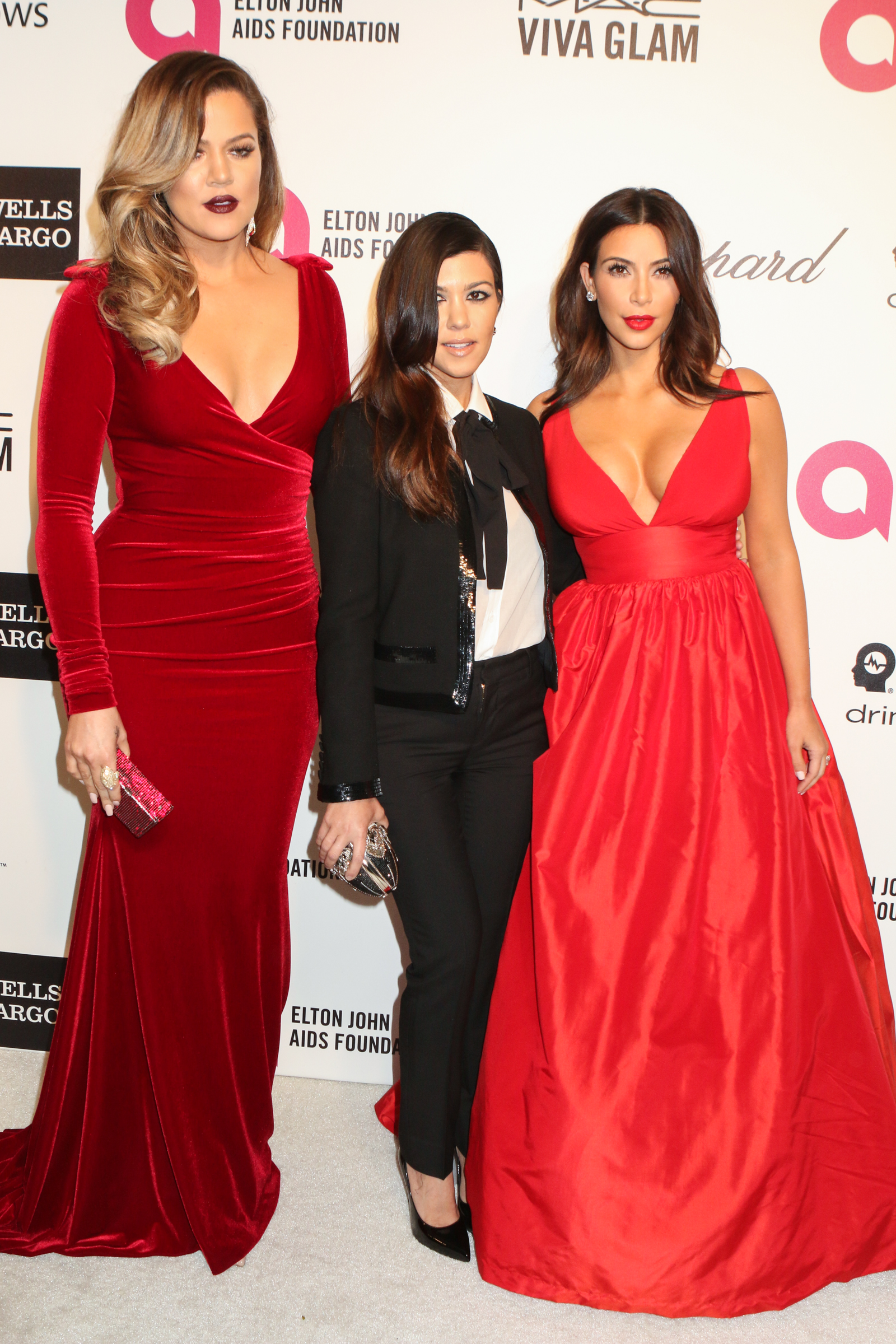 Elton John Aids Foundation presents 22nd Annual Academy Awards viewing party - Arrivals  Featuring: Khloe Kardashian,Kourtney Kardashian,Kim Kardashian Where: West Hollywood, California, United States When: 02 Mar 2014 Credit: FayesVision/WENN.com
