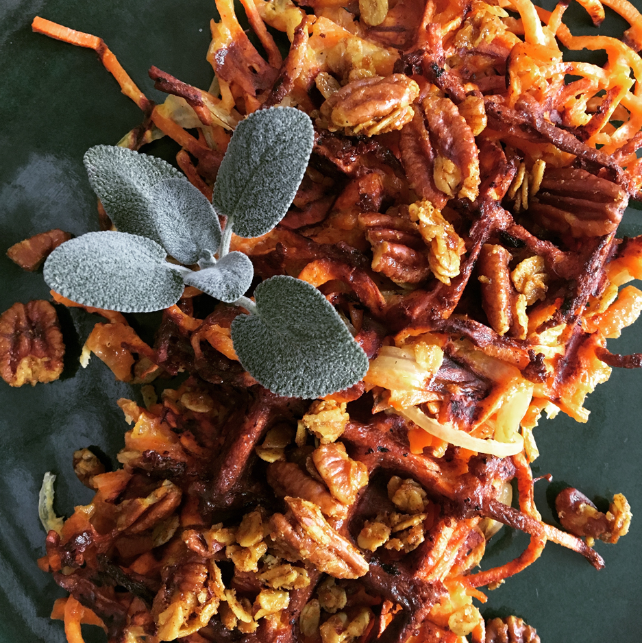 <p>Sweet Potato Waffles with Pecan Crunch (Kristen Coffield)</p>