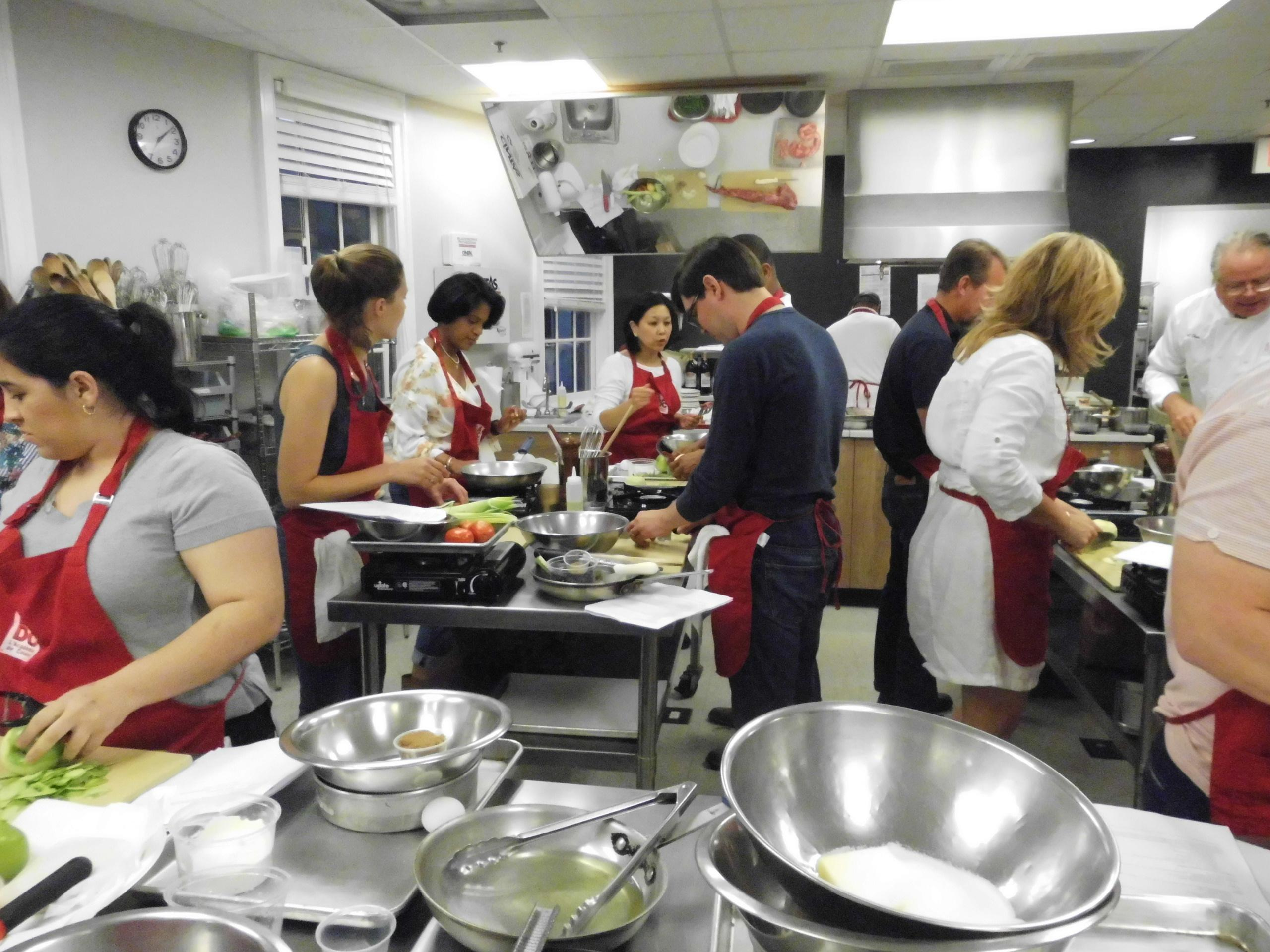 Cooking class at L'Academie (Paul Shapin)