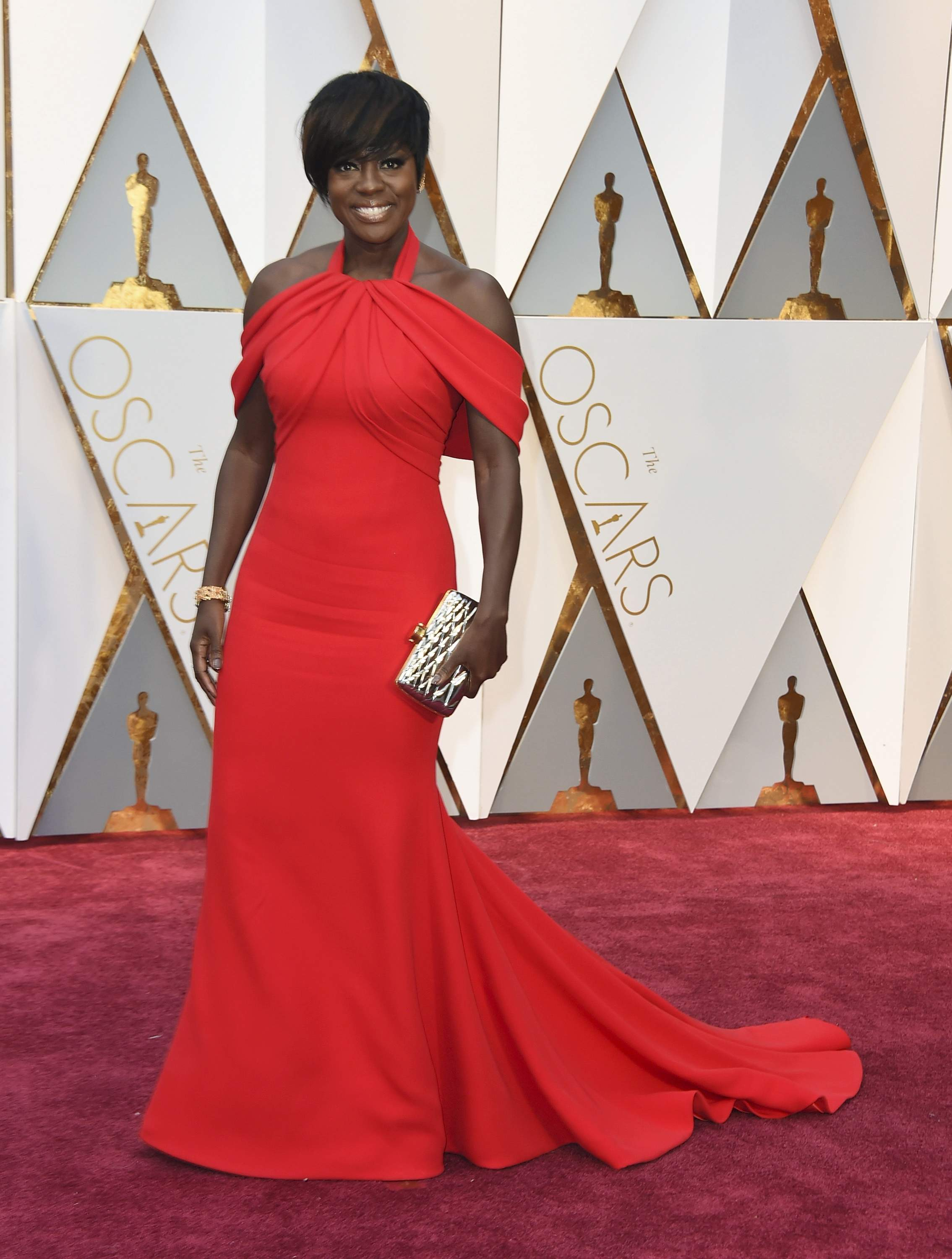 Viola Davis arrives at the Oscars on Sunday, Feb. 26, 2017, at the Dolby Theatre in Los Angeles. THE ASSOCIATED PRESS