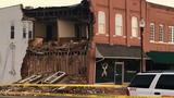 Building wall collapses in LaFayette, closing businesses & road