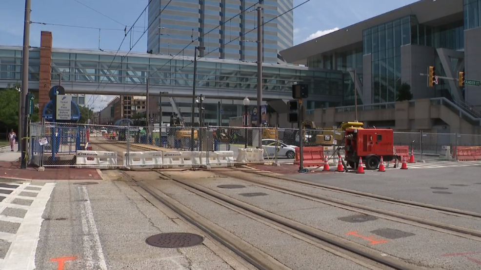 Light rail service to resume between Camden and North Ave. stops after water main break
