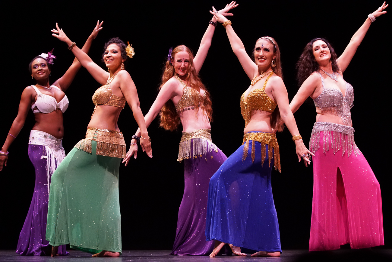 Anaya Belly Dance brings skilled dancers who combine belly dance, modern fusion, and Chinese martial arts to the Jason-Kaplan Theater at the Aronoff Center for the Arts on Saturday, October 6 at 7:00 PM. / Image: Doug Moore // Published: 10.1.18