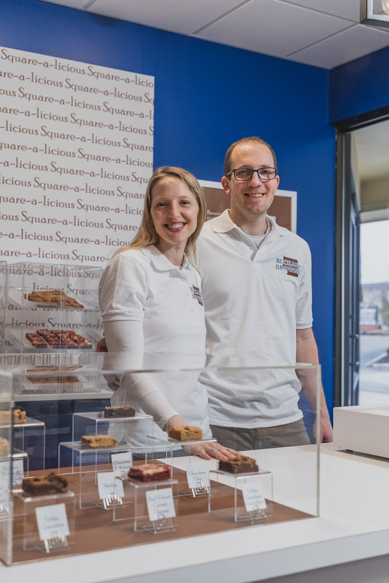 Miriam Spitz and Tom Kahan, co-owners and married couple / Image courtesy of Buckabee Brownies // Published: 6.6.19