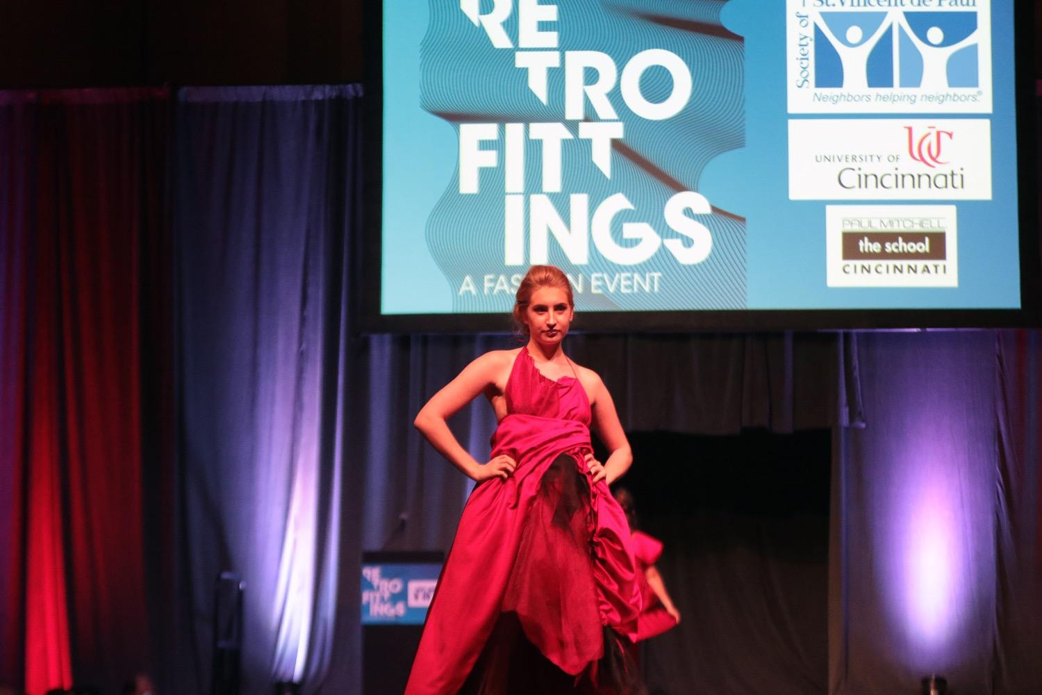 The RetroFittings fashion show was held on Saturday, Oct. 14 at the Duke Energy Convention center, and it was a huge success! University of Cincinnati DAAP students created avant-garde runway fashions from thrift store items. Meanwhile, guests had the opportunity to peruse the RetroFittings curated boutique for bargains on some of the world's finest clothes and accessories. / Image: Tony Tribble // Published: 10.18.17