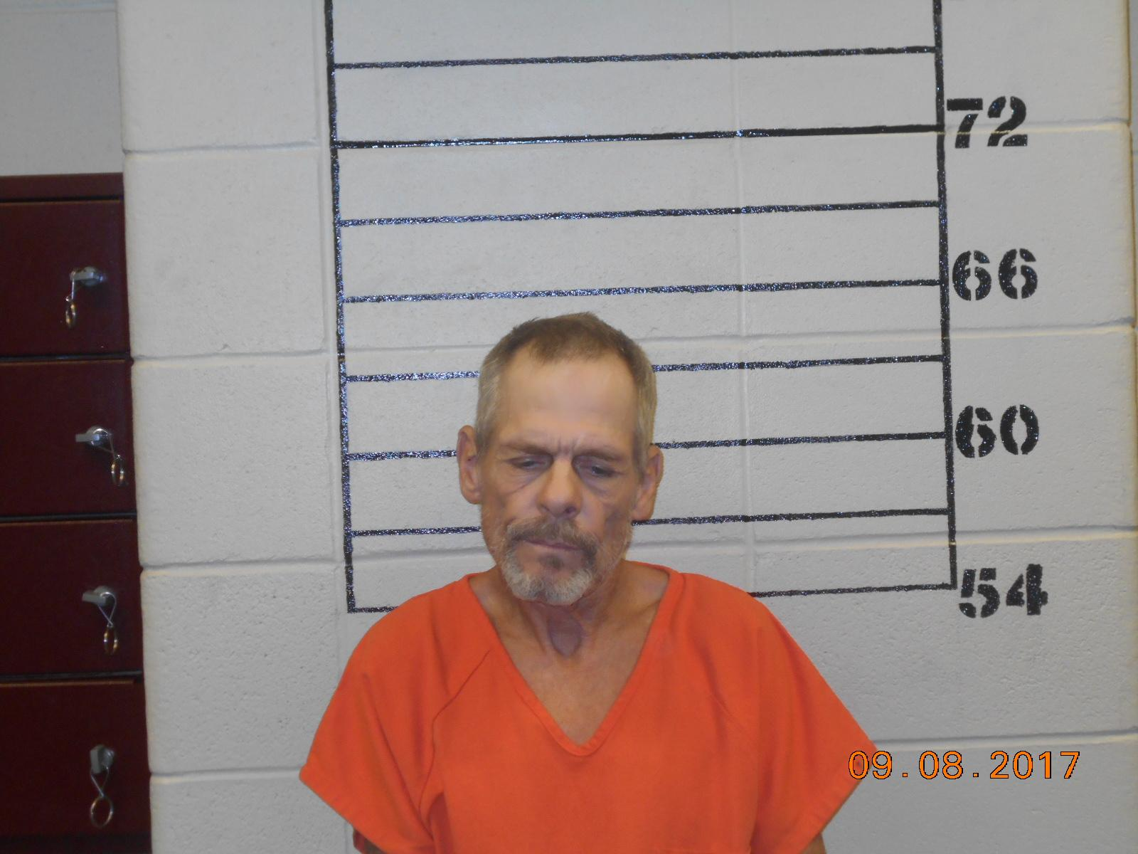 Norman Ogle, 58, was arrested Sept. 8 in Cushing on complaints of Possession of CDS Methamphetamine within 1000 feet of a school, Possession of Marijuana and Possession of Drug Paraphernalia. (Cushing Police Department)