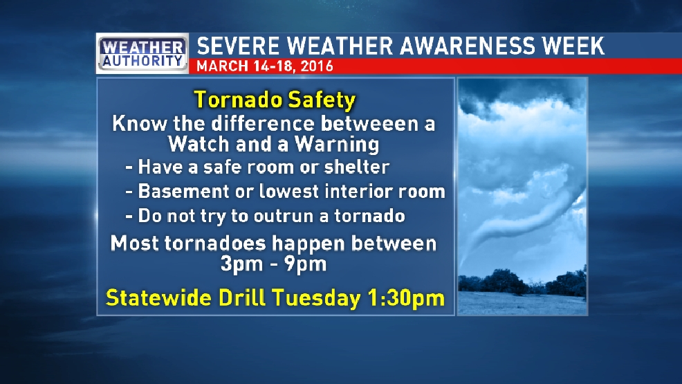 Severe Weather Safety : Severe weather awareness week tornado safety news
