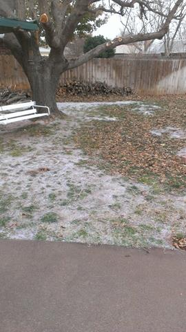 Facebook fan Buster Wilson says it was 24 degrees in Duncan when he took this picture of sleet at 12:55.