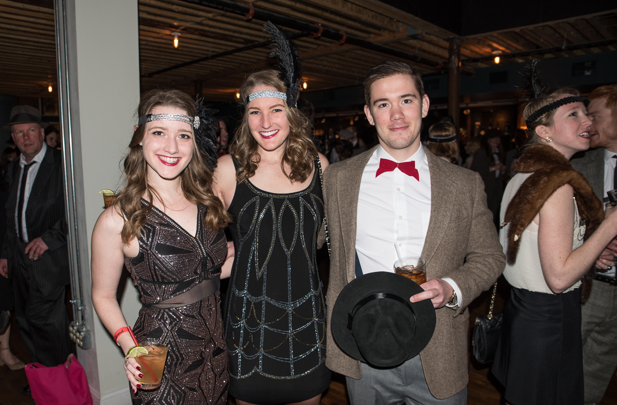People: Krista Reiling, Hannah Wolfer, and Sean Hawkins / Event: Prohibition Party (2.11.17) / Image: Sherry Lachelle Photography / Published: 3.2.17