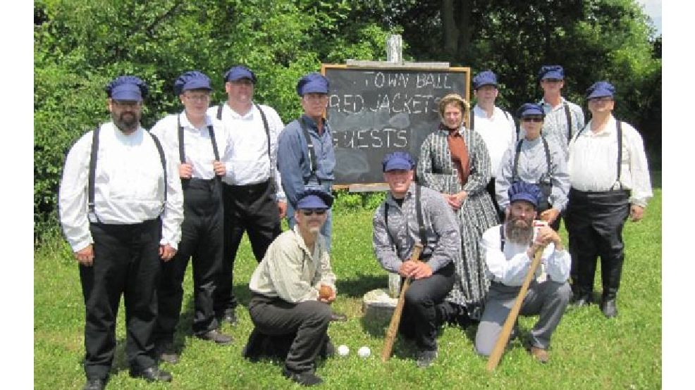 Wade House Red Jackets vintage base ball team (Photo courtesy Wade House)