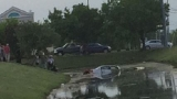 64-year-old woman rescued after driving into Geneseo pond
