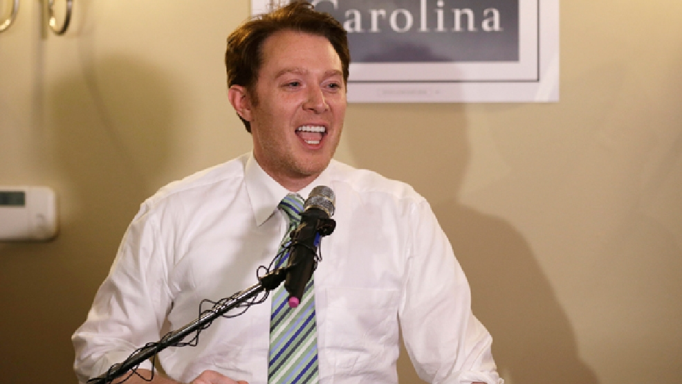 FILE - In this May 6, 2014 file photo, Clay Aiken speaks to supporters during an election night watch party in Holly Springs, N.C. Aiken won what had been a hotly contested Democratic primary for a North Carolina congressional seat according to a final, unofficial vote count that was posted Tuesday, May 13, 2014, a day after the accidental death of his closest rival. (AP Photo/Gerry Broome, File)