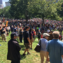 Thousands of counter-protesters march to the Boston Common