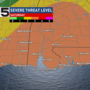 Strong storms with severe threat Saturday