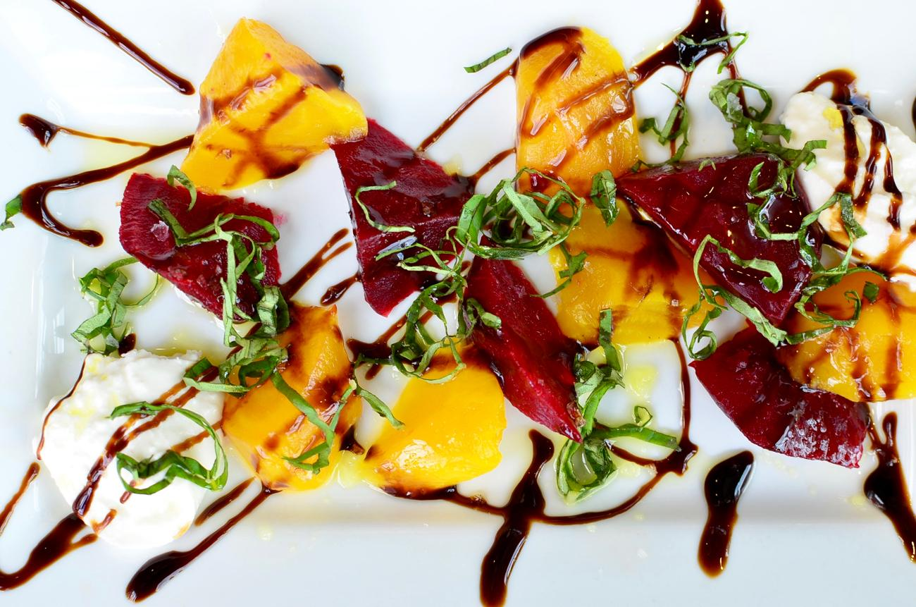Roasted Beet Caprese: buretta, fresh basil, balsamic glaze, olive oil, sea salt / Image: Leah Zipperstein, Cincinnati Refined // Published: 9.4.17